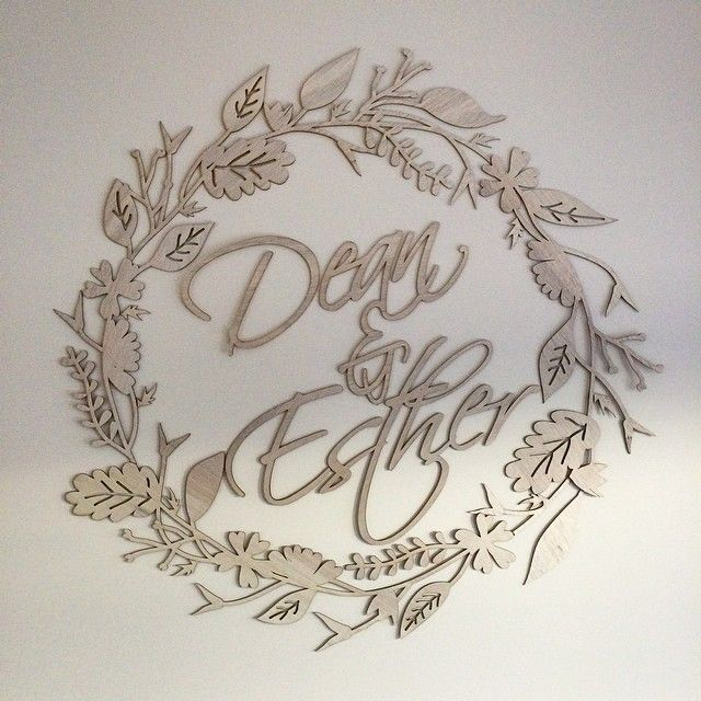 """Awesome design we did, laser cut out for a lovely couple's engagement party today in Melbourne! Congrats Dean and Esther we had a wonderful time at your party. @estherthan @deanowerner  #design #creative #lasercut #wedding #engagement #events #deco"""