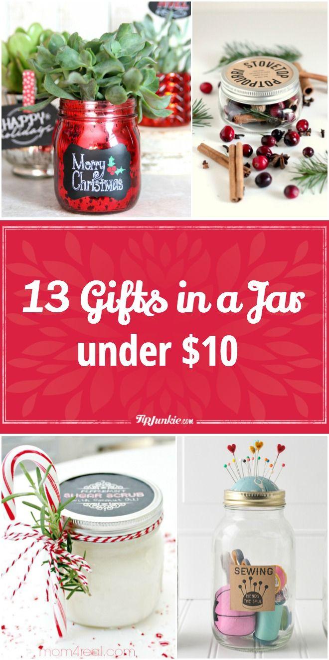 13 Gifts in a Jar under $10 via @tipjunkie