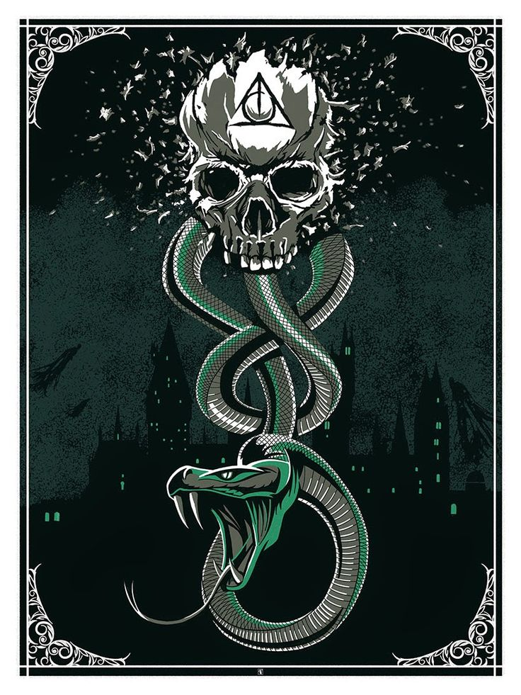 """The Dark Mark"" Print by The Dark Inker (via Inside the Rock Poster Frame)"