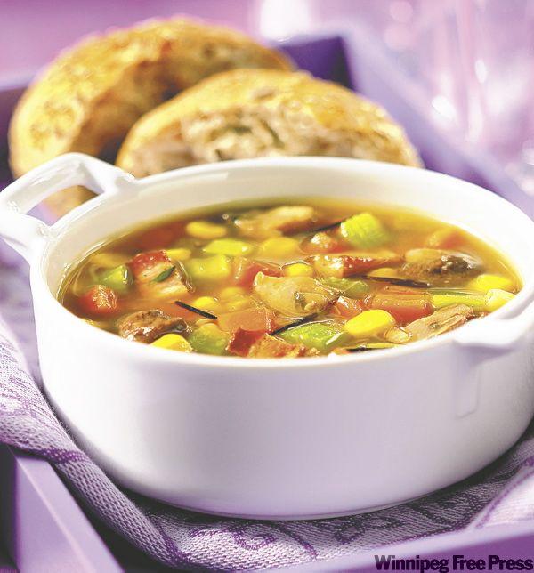 Mushroom and wild rice chowder | Delicious Food | Pinterest | Wild ...