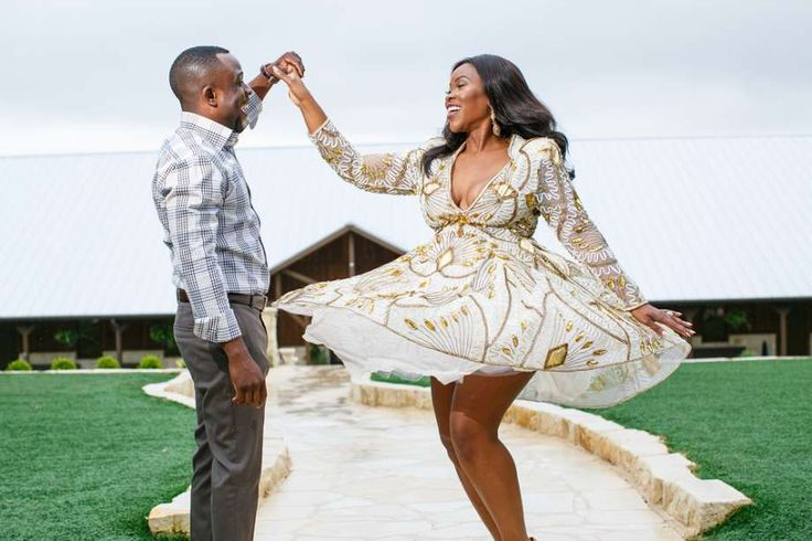 The soon-to-be Aniboweis had a memorable engagement photo shoot, when Jessica's wig flew off during a spin, and it quickly went viral. Photo: Rhphotoarts, Raheem Osayin