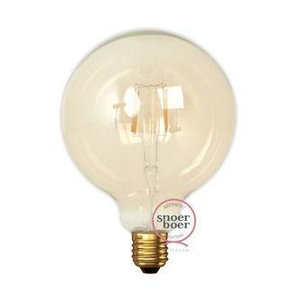 Calex LED kooldraadlamp globe E27 4W goud 125 mm