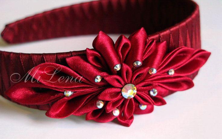 Headband, kanzashi   Flickr - Photo Sharing!