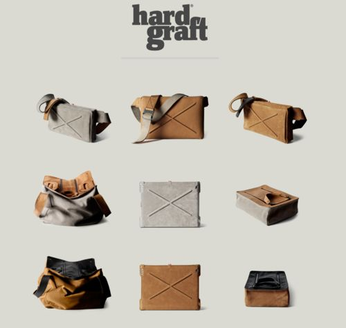 Beautiful hand-built leather bags by HardGraft:  http://www.hardgraft.com/