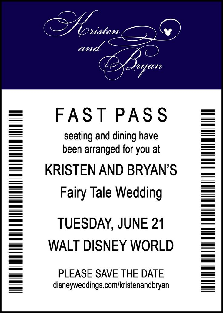 a FAST PASS as a save the date...why did I not think of this sooner?!  So glad its not too late LOL.