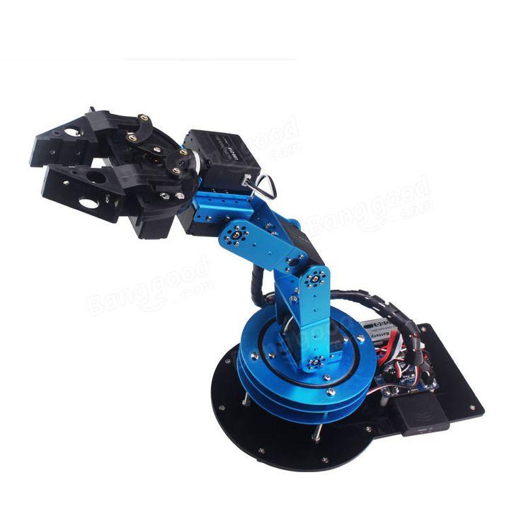 DIY 6DOF Roboterarm Open Source Mechanischer Arm Mit Klauenhalter Digital Servo Verkauf - Banggood.com