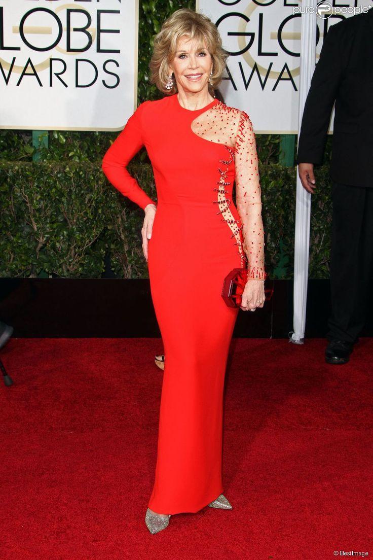 Jane Fonda lors de La 72e cérémonie annuelle des Golden Globe Awards...  janvier 2015  elle est merveilleusement parfaite !