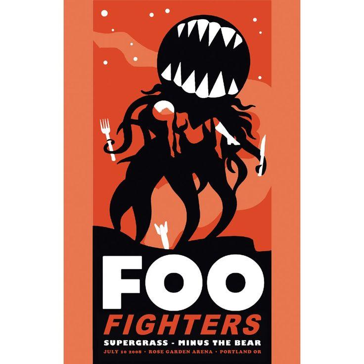 Foo Fighters Live 2008 Concert Promo Poster - Rockabilia