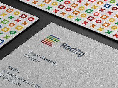 Dribbble - Radity Business Card / Logo Design by Paulius Kairevičius
