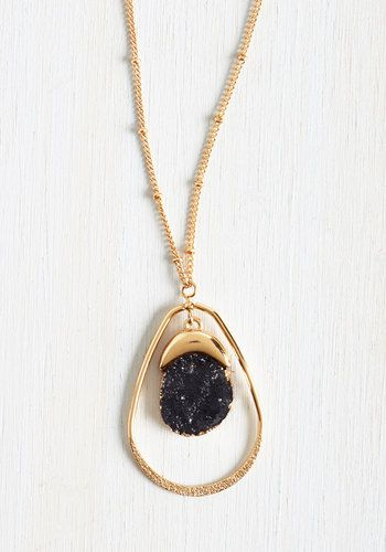 Gorgeous gold and black statement necklace