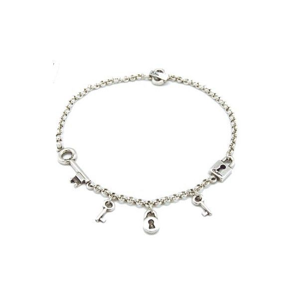 CHARM CHAIN WITH KEY AND LOCK FEATURES