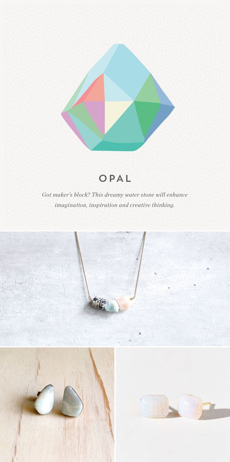 Love the multi-colored look of opal stone jewelry.