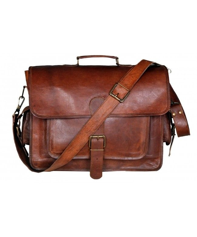 13 x 18 inch Bag RKH Leather Unisex Real Leather Messenger Bag for Laptop Briefcase Satchel