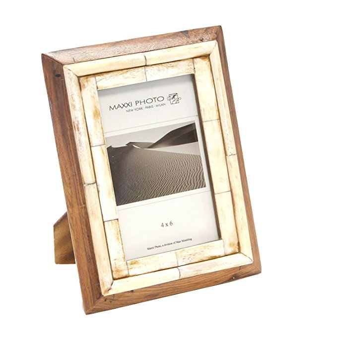 Wow What A Handsome Frame It S Made Of Naturally Shed Horn And Bone This Is From The Excellent Maxxi Designs And Comes Photo Frame Design Frame Photo Frame