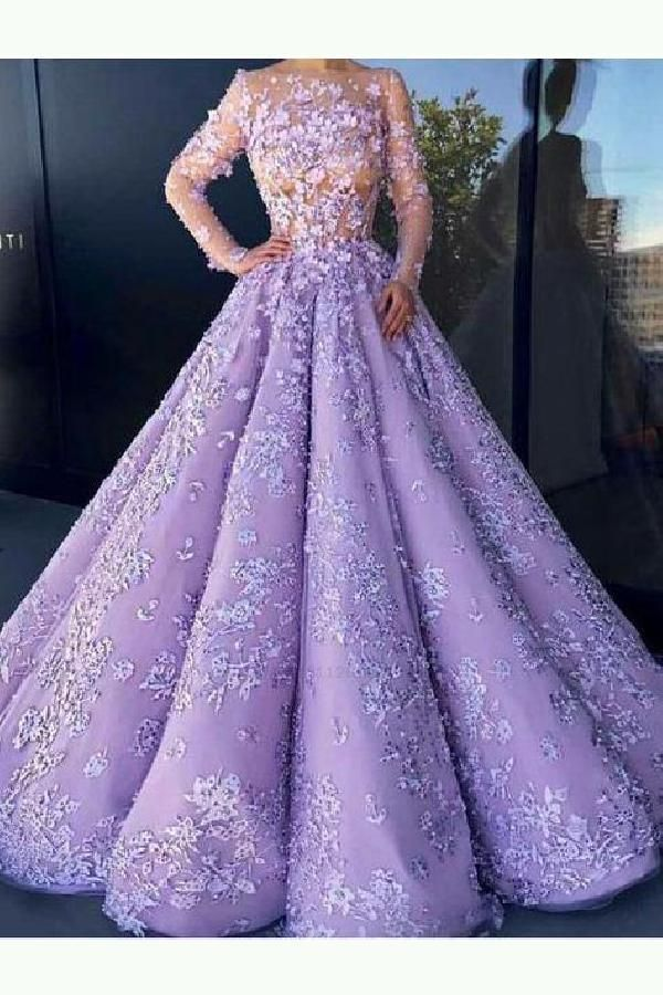 Delightful Prom Dresses With Sleeves Ball Gown Wedding Dress