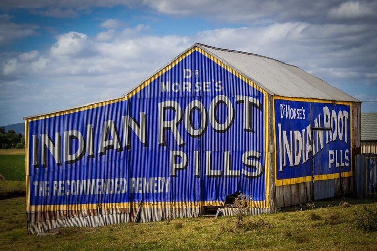 Indian Root Pills shed in East Maitland, NSW, Australia
