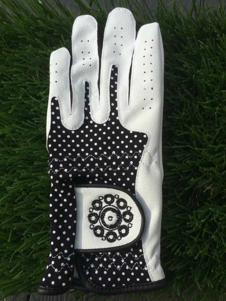 Golfhandschoen zwart Zeeuwse knop