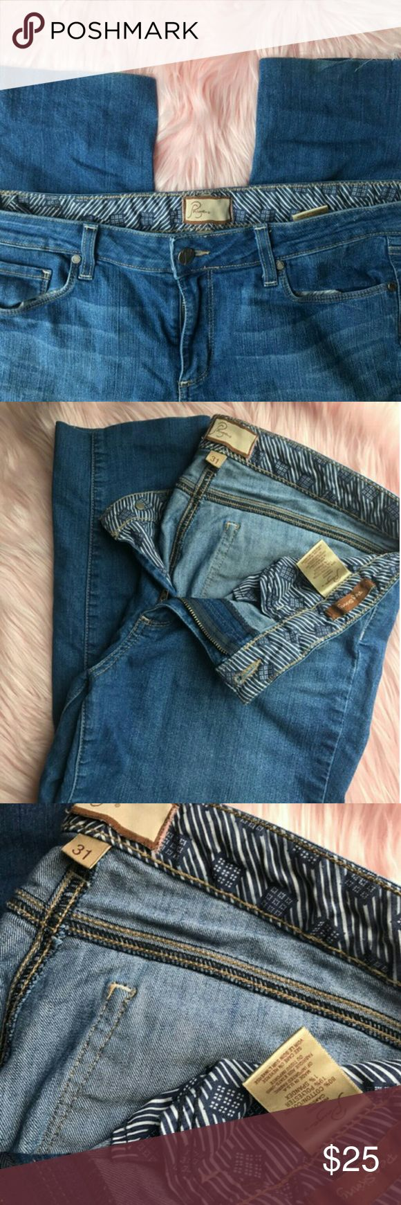 Paige Premium Denim size 31 Peg Skinny If you know Paige, you know these are the comfiest!  These are the Peg Skinny style. See photos: These have been DIY hemmed. Paige Jeans Jeans Skinny