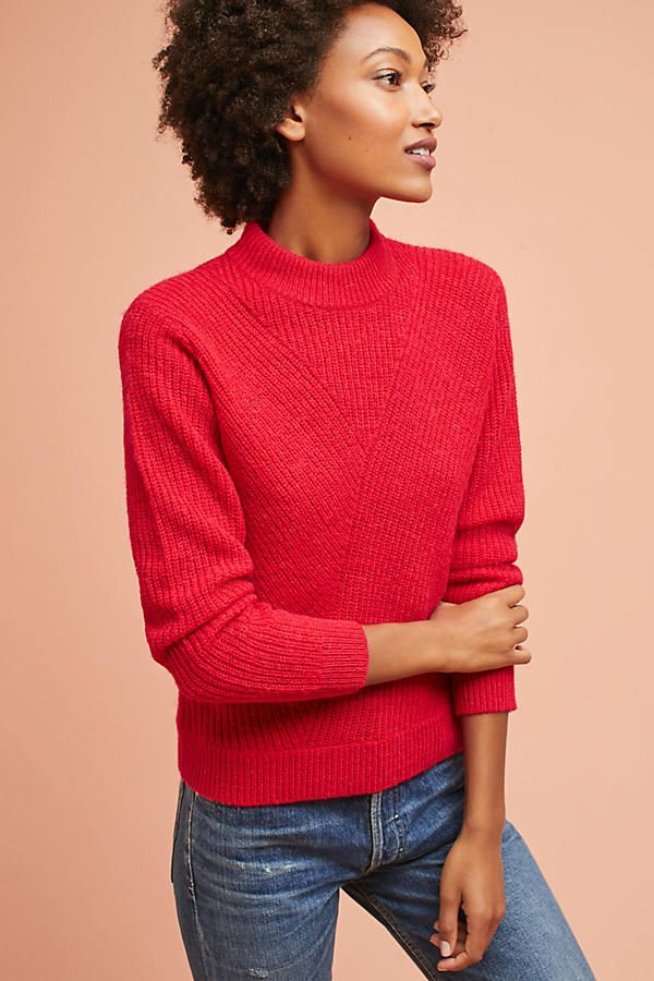 Ribbed Crew Neck Pullover