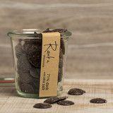 Raaka Pastille Jar 71% Dark Chocolate with Sea Salt