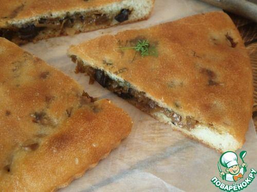 Заливной постный пирог с капустой - кулинарный рецепт