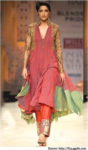 Designer Anarkali suit by Manish Malhotra