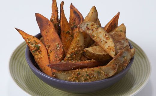 I love potato wedges, don't you?  Try this twist with your family.