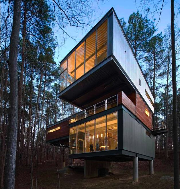 Attractive Mike Rantillau0027s Award Winning Personal Home: A Modern Cabin In North  Carolina