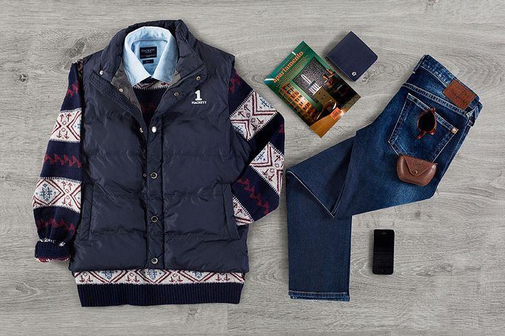 AVENTURAS AL AIRE LIBRE Dale un toque de estilo al denim clásico con suaves tejidos aztecas y un lujoso chaleco acolchado —¡perfecto para protegerte del frío del invierno!