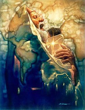 """Simeon's Moment by Ron Dicianni -   Luke 2:26  """"It had been revealed to him by the Holy Spirit that he would not die before he had seen the Lord's Messiah. Google Search"""