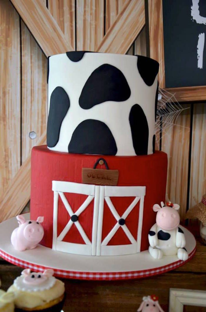Rustic Barnyard 1st Birthday Party via Kara's Party Ideas! The Place for All Things Party! KarasPartyIdeas.com #barnyardparty (25)