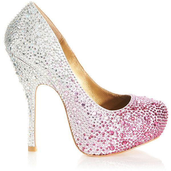 Fuschia Low Heel Wedding Shoes: Benjamin Adams Rio Fuchsia And Silver High Heels Liked On