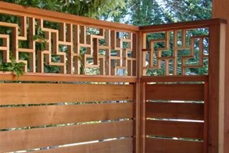These modular lattice screens could easily fit into a Japanese garden theme. Choose a type of wood local to your region for an authentic touch (Japanese garden design is noted for using regionally-sourced materials). Modular screens from LatticeStix.