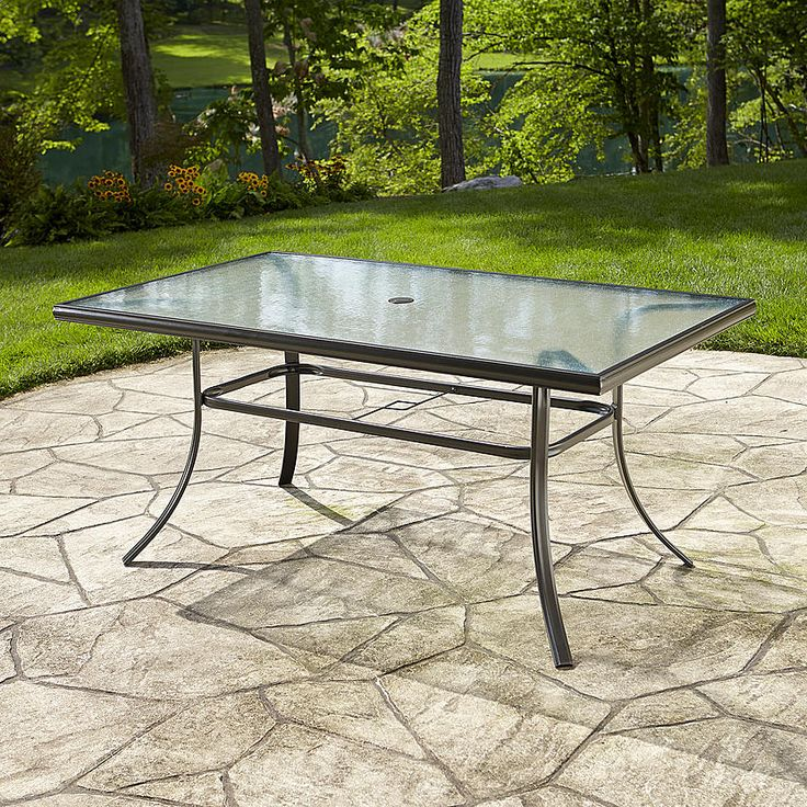 Essential Garden Fulton Dining Table Round patio table
