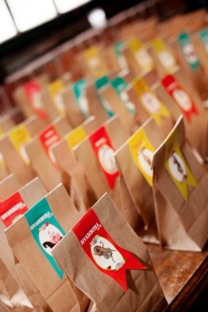paper bag wedding favors // photo by Photo Pink