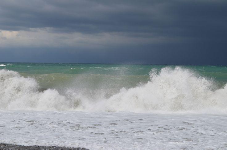 Жара накрыла город, а хочется прохлады. И вспоминается шторм на Черном море в Батуми. Когда ночью ураганом порвало палатки у соседей по пляжу. У некоторых не сломало, но залило водой. А была такая, в которую заглянув в момент особого бушевания непогоды, мы обнаружили Толика сидящего свержу на булыжнике и болтающего ножками в водичке вокруг.   Наша палатка в виду опытной установки выстояла в буре. Но уцелели мы благодаря везению, ибо утром обнаружили огромное дерево рухнувшее всего в 2-х…