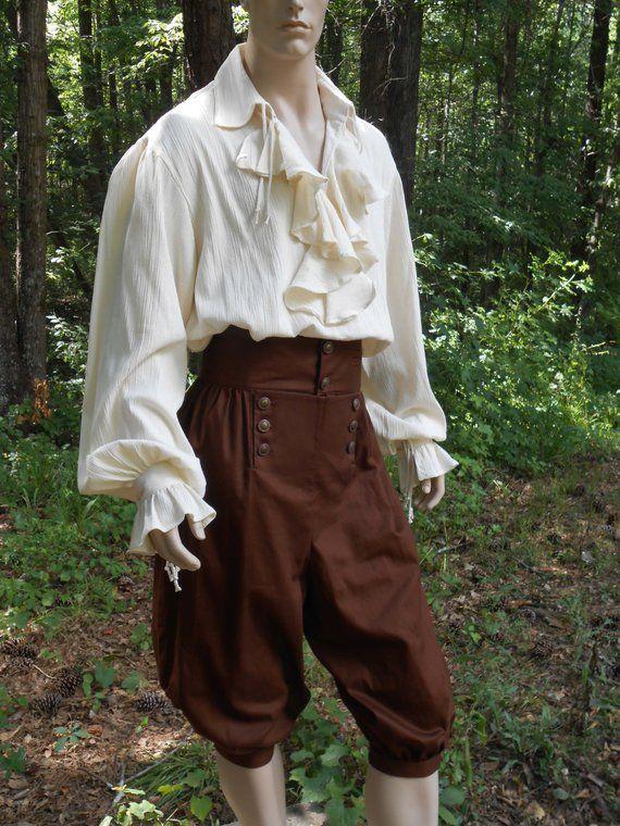 ADULT MENS COLONIAL RENAISSANCE PIRATE MEDIEVAL VICTORIAN COSTUME PANTS LONG