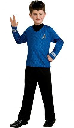 Déguisement Enfant Spock™ Star Trek Movie Bleu Avec Couvre-Bottes -Qualité Luxe