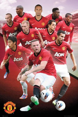 Manchester United Poster new Red Devils MAN U Premier League Rooney Giggs Nani