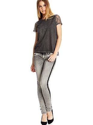 Pepe Jeans London T-Shirt Manica Corta Adele (Grigio Scuro)