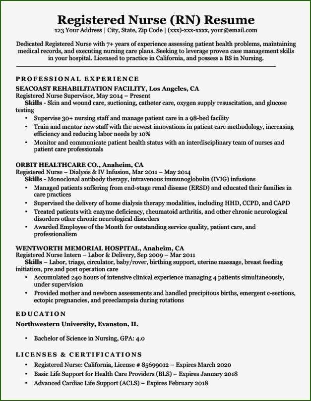 12 Exemplary Registered Nurse Resume Template Registered Nurse Resume Rn Resume Nursing Resume Examples