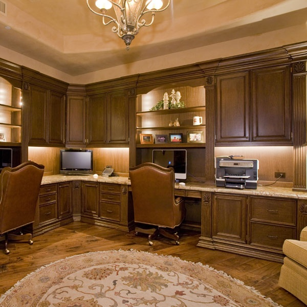 His & Hers Home Office... Not Exactly How I Would Have It