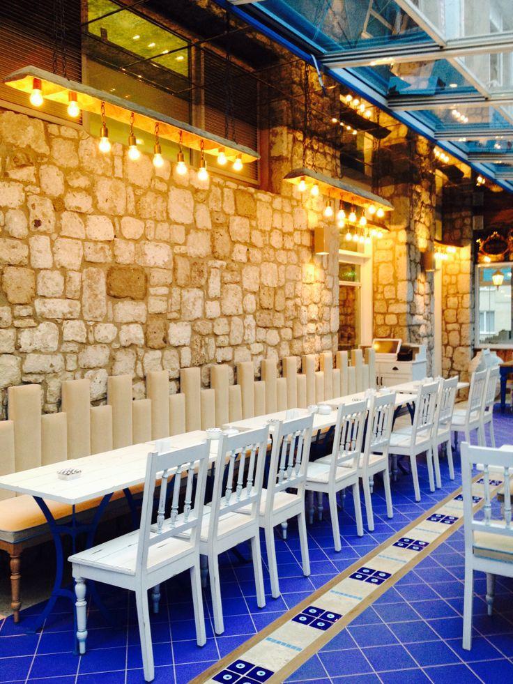 new restaurant designa m b a r design in İstanbul @stone @wall