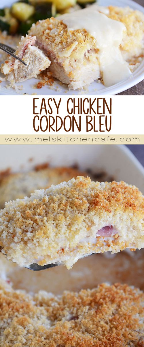 There's no reason to fuss over finicky chicken cordon bleu recipes when this shortcut, easy chicken cordon bleu is simple and just as delicious!