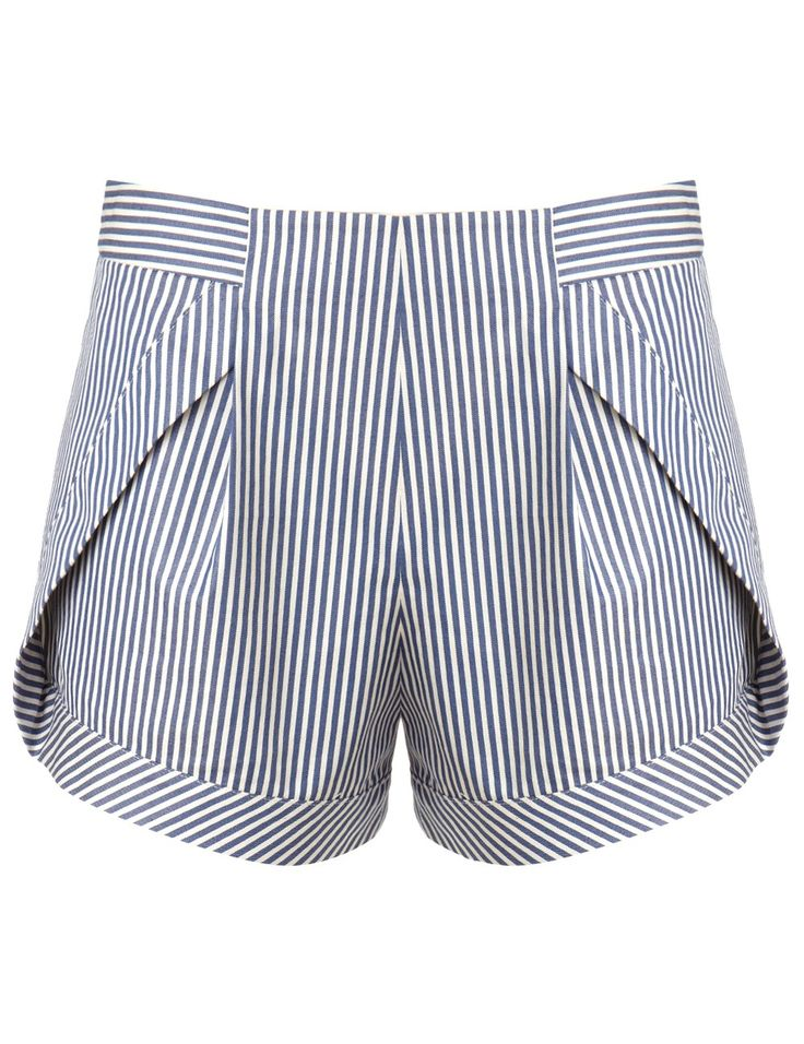 Blue Stripe Side Panel Shorts | Thakoon Addition | Avenue32