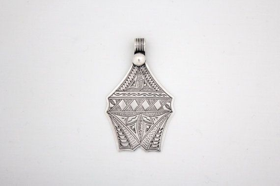 Vintage Moroccan Berber Succulent Pendant by USGS on Etsy