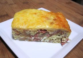 Dukan Diet Recipe Onion, Cheese and Bacon Quiche