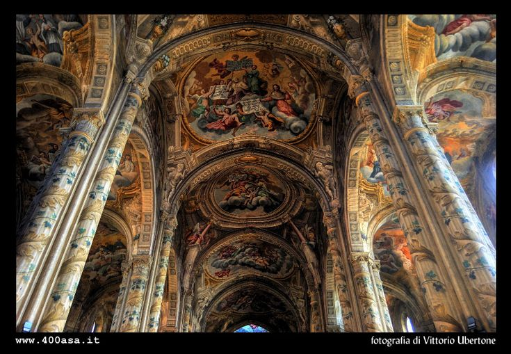 Interior of the cathedral in Asti, Italy