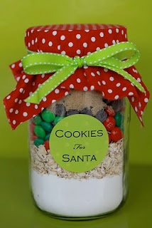 Cookies for Santa jar! Think our Christmas elf may be bringing this on December 1st...
