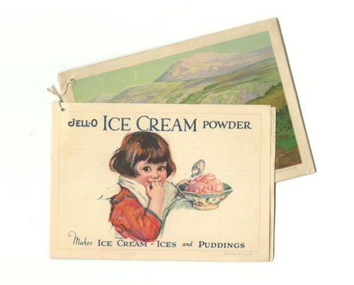 1925 Jello Recipe Booklet with Jell O Ice Cream Powder Ad Insert Attached | eBay